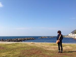 キレイな空と海