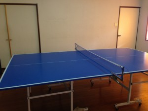 自宅卓球場