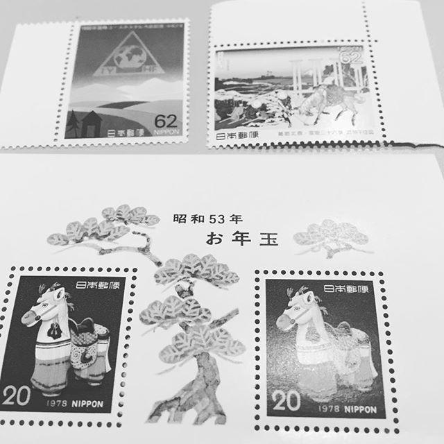 最近、82円を作るのに、昭和の切手が役に立ってます。