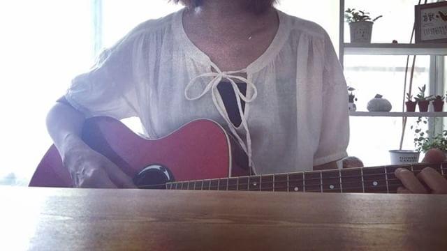 すみません、サビ前で切れました。新曲「きみのこえがきこえる」仕事してるといいつつ練習も。笑