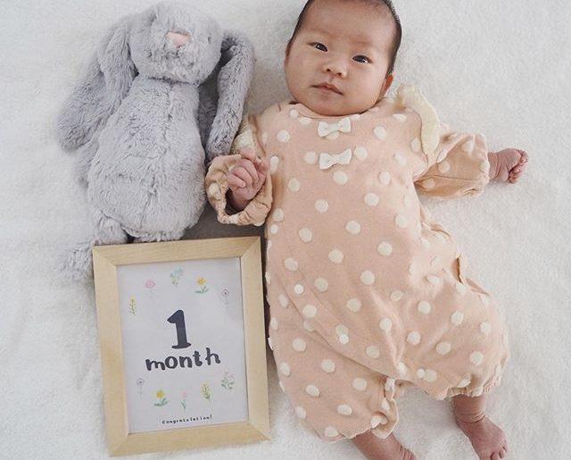 ゆずちゃん、満1か月。